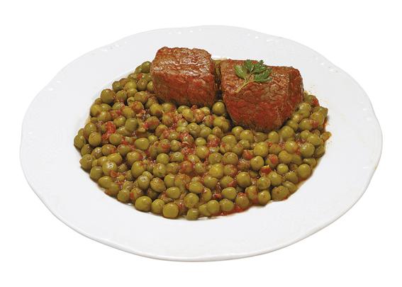 Μοσχάρι Κοκκινιστό με αρακά